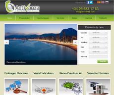 Web para el cliente Activanza de Benidorm (Alicante)