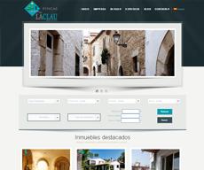 Web para el cliente Fincas La Clau de Sitges (Barcelona)