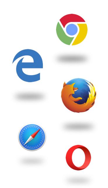 Compatible con todos los navegadores.
