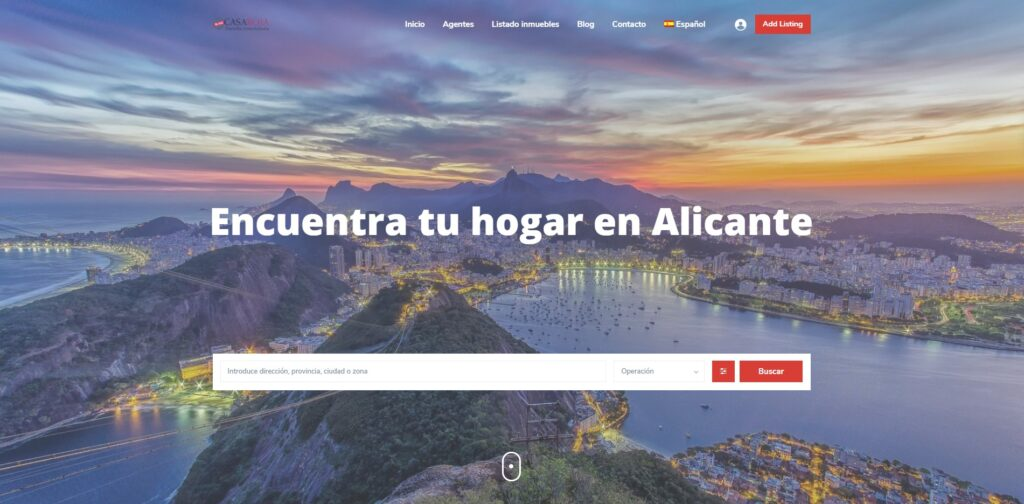 Modelo web wordpress Casa Roja