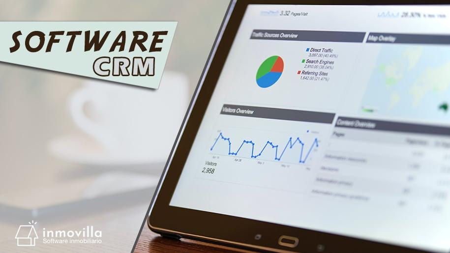 Imagen de una tablet PC mostrando software CRM